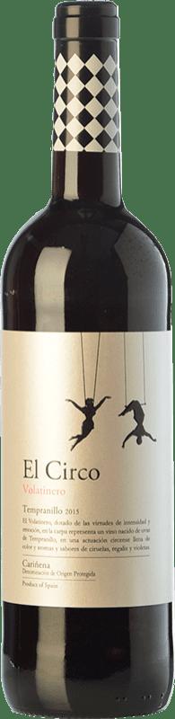 4,95 € 免费送货 | 红酒 Grandes Vinos El Circo Volatinero Joven D.O. Cariñena 阿拉贡 西班牙 Tempranillo 瓶子 75 cl