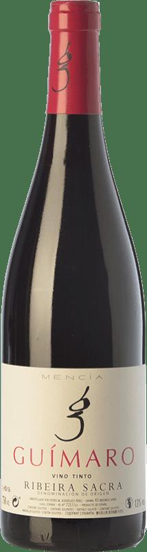 9,95 € | Red wine Guímaro Joven D.O. Ribeira Sacra Galicia Spain Mencía, Sousón, Caíño Black Bottle 75 cl