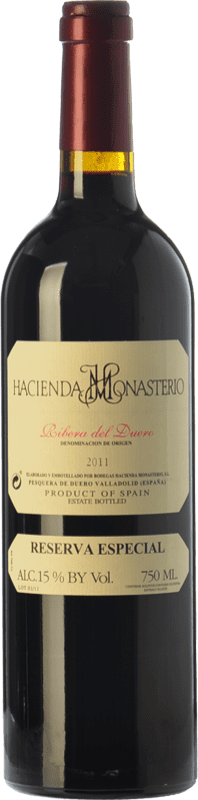 89,95 € Envoi gratuit | Vin rouge Hacienda Monasterio Especial Reserva D.O. Ribera del Duero Castille et Leon Espagne Tempranillo, Cabernet Sauvignon Bouteille 75 cl