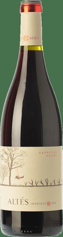 9,95 € Envío gratis | Vino tinto Herència Altés Garnatxa Negre Joven D.O. Terra Alta Cataluña España Garnacha Botella 75 cl
