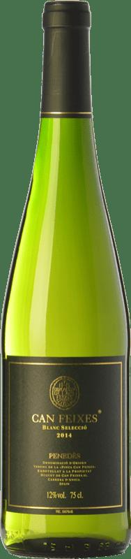 8,95 € Envío gratis | Vino blanco Huguet de Can Feixes Blanc Selecció D.O. Penedès Cataluña España Malvasía, Macabeo, Chardonnay, Parellada Botella 75 cl