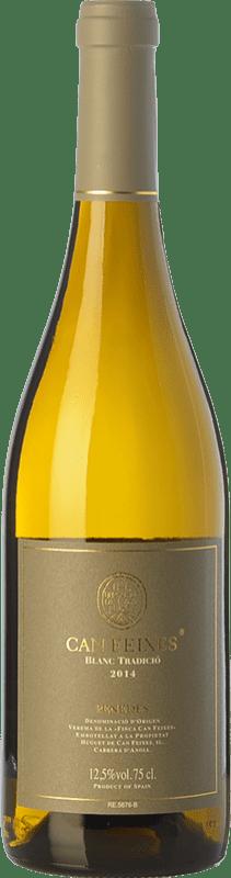 12,95 € Envío gratis | Vino blanco Huguet de Can Feixes Blanc Tradició Crianza D.O. Penedès Cataluña España Xarel·lo, Malvasía de Sitges Botella 75 cl
