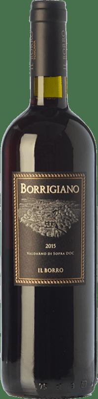 13,95 € Free Shipping | Red wine Il Borro Borrigiano I.G.T. Val d'Arno di Sopra Tuscany Italy Merlot, Syrah, Sangiovese Bottle 75 cl