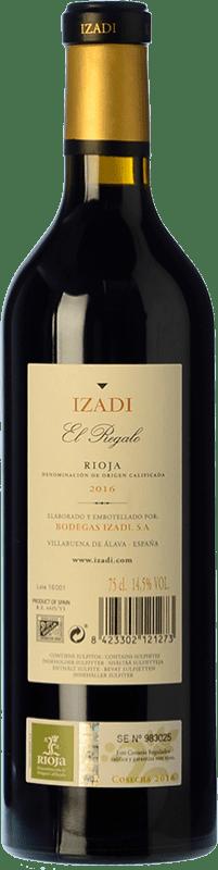 19,95 € | Red wine Izadi El Regalo Crianza D.O.Ca. Rioja The Rioja Spain Tempranillo Bottle 75 cl