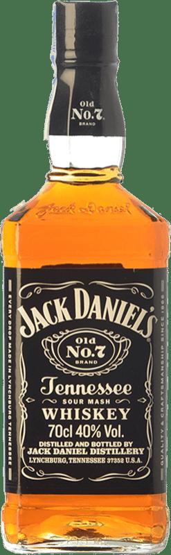 21,95 € 免费送货   波旁酒 Jack Daniel's No. 7 田纳西 美国 瓶子 70 cl