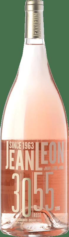 11,95 € Free Shipping | Rosé wine Jean Leon 3055 Rosé D.O. Penedès Catalonia Spain Merlot, Cabernet Sauvignon Magnum Bottle 1,5 L