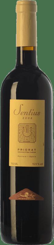 16,95 € Free Shipping | Red wine Joan Simó Les Sentius Crianza D.O.Ca. Priorat Catalonia Spain Syrah, Grenache, Cabernet Sauvignon, Carignan Bottle 75 cl