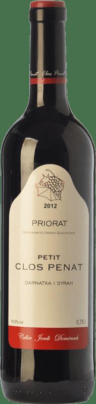 9,95 € Envoi gratuit | Vin rouge Jordi Domènech Petit Clos Penat Joven D.O.Ca. Priorat Catalogne Espagne Syrah, Grenache Bouteille 75 cl