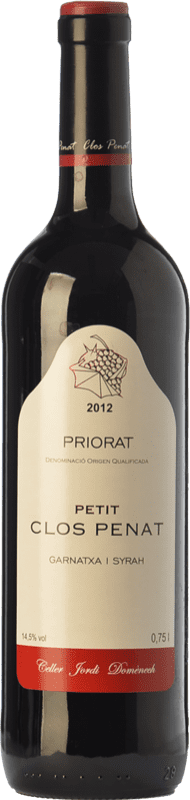 9,95 € Envío gratis | Vino tinto Jordi Domènech Petit Clos Penat Joven D.O.Ca. Priorat Cataluña España Syrah, Garnacha Botella 75 cl