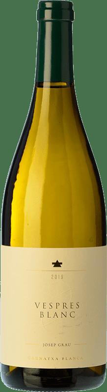 16,95 € 免费送货 | 白酒 Josep Grau Vespres Blanc Crianza D.O. Montsant 加泰罗尼亚 西班牙 Grenache White 瓶子 75 cl