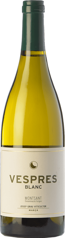 16,95 € Envoi gratuit | Vin blanc Josep Grau Vespres Blanc Crianza D.O. Montsant Catalogne Espagne Grenache Blanc Bouteille 75 cl