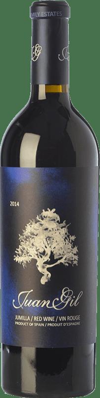 24,95 € | Red wine Juan Gil Etiqueta Azul Crianza D.O. Jumilla Castilla la Mancha Spain Syrah, Cabernet Sauvignon, Monastrell Bottle 75 cl