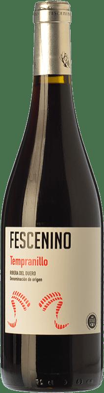 6,95 € Free Shipping | Red wine Juan Manuel Burgos Fescenino Joven D.O. Ribera del Duero Castilla y León Spain Tempranillo Bottle 75 cl