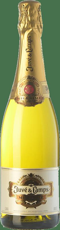 32,95 € | White sparkling Juvé y Camps Millésime Reserva D.O. Cava Catalonia Spain Chardonnay Bottle 75 cl