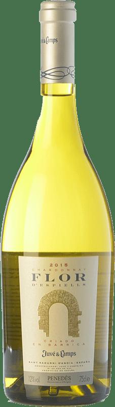 15,95 € 免费送货 | 白酒 Juvé y Camps Flor d'Espiells Crianza D.O. Penedès 加泰罗尼亚 西班牙 Chardonnay 瓶子 75 cl