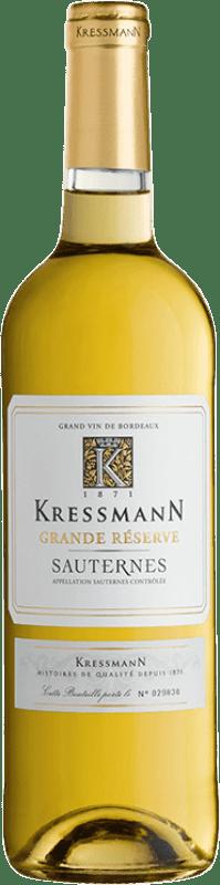 19,95 € Free Shipping | Sweet wine Kressmann Grande Réserve Gran Reserva A.O.C. Sauternes Bordeaux France Sauvignon White, Sémillon Bottle 75 cl