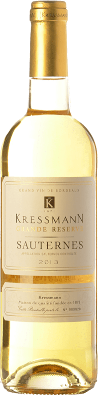 19,95 € Envoi gratuit   Vin doux Kressmann Grande Réserve Gran Reserva A.O.C. Sauternes Bordeaux France Sauvignon Blanc, Sémillon Bouteille 75 cl