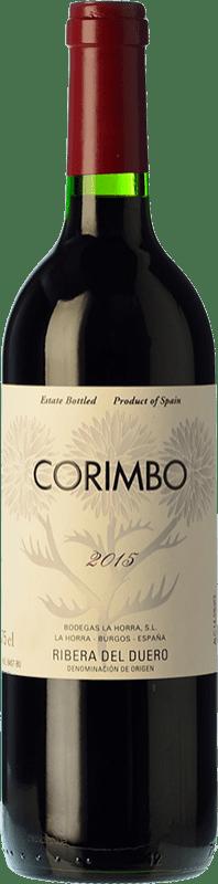 24,95 € 免费送货 | 红酒 La Horra Corimbo Crianza D.O. Ribera del Duero 卡斯蒂利亚莱昂 西班牙 Tempranillo 瓶子 75 cl