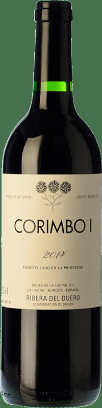 92,95 € Envío gratis | Vino tinto La Horra Corimbo I Crianza D.O. Ribera del Duero Castilla y León España Tempranillo Botella Mágnum 1,5 L