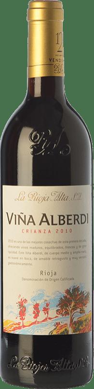 12,95 € 免费送货 | 红酒 Rioja Alta Viña Alberdi Crianza D.O.Ca. Rioja 拉里奥哈 西班牙 Tempranillo 瓶子 75 cl