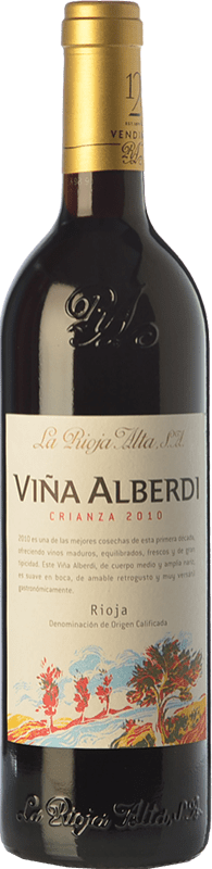 12,95 € Envio grátis   Vinho tinto Rioja Alta Viña Alberdi Crianza D.O.Ca. Rioja La Rioja Espanha Tempranillo Garrafa 75 cl