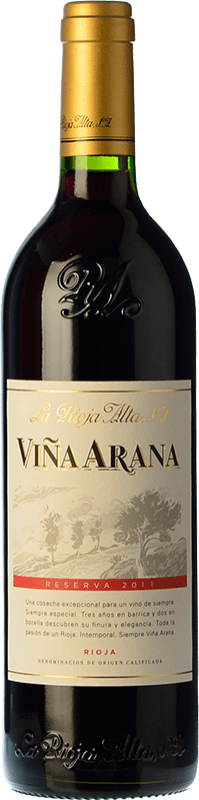 15,95 € Free Shipping | Red wine Rioja Alta Viña Arana Reserva D.O.Ca. Rioja The Rioja Spain Tempranillo, Mazuelo Bottle 75 cl