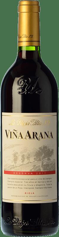 15,95 € Envoi gratuit | Vin rouge Rioja Alta Viña Arana Reserva D.O.Ca. Rioja La Rioja Espagne Tempranillo, Mazuelo Bouteille 75 cl