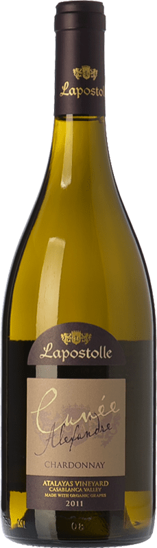 22,95 € Free Shipping | White wine Lapostolle Cuvée Alexandre Crianza I.G. Valle de Casablanca Valley of Casablanca Chile Chardonnay Bottle 75 cl
