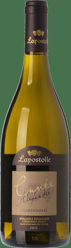 22,95 € Free Shipping | White wine Lapostolle Cuvée Alexandre Crianza I.G. Valle de Casablanca Valley of Casablanca Chile Chardonnay Bottle 75 cl