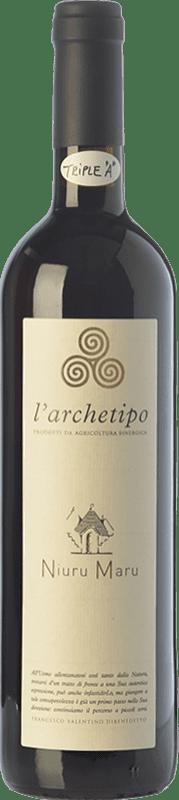18,95 € | Red wine L'Archetipo Niuru Maru I.G.T. Salento Campania Italy Negroamaro Bottle 75 cl