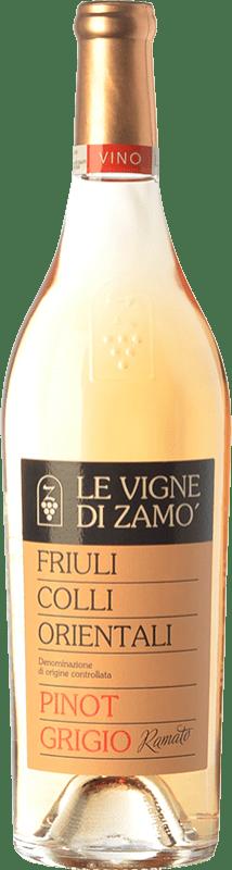 16,95 € Free Shipping | White wine Zamò Ramato D.O.C. Colli Orientali del Friuli Friuli-Venezia Giulia Italy Pinot Grey Bottle 75 cl