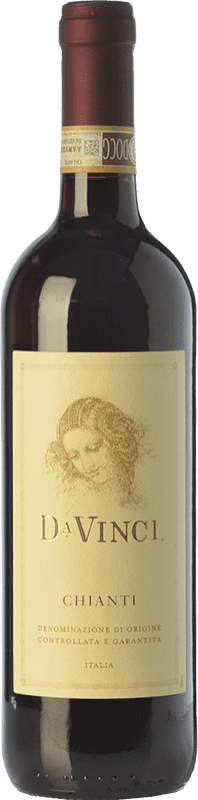 8,95 € | Red wine Leonardo da Vinci Da Vinci D.O.C.G. Chianti Tuscany Italy Merlot, Sangiovese Bottle 75 cl