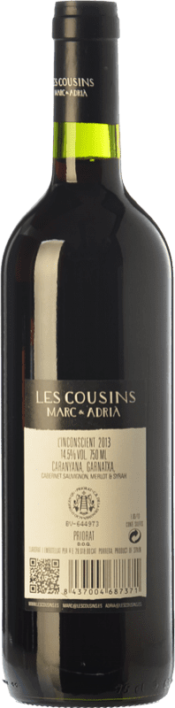 10,95 € Free Shipping | Red wine Les Cousins L'Inconscient Crianza D.O.Ca. Priorat Catalonia Spain Merlot, Syrah, Grenache, Cabernet Sauvignon, Carignan Bottle 75 cl