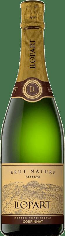 13,95 € Free Shipping | White sparkling Llopart Brut Nature Reserva D.O. Cava Catalonia Spain Macabeo, Xarel·lo, Chardonnay, Parellada Bottle 75 cl
