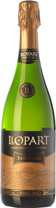 18,95 € Free Shipping | White sparkling Llopart Imperial Panoramic Brut Gran Reserva D.O. Cava Catalonia Spain Macabeo, Xarel·lo, Chardonnay, Parellada Bottle 75 cl