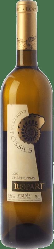 11,95 € Free Shipping | White wine Llopart Clos dels Fòssils Chardonnay Crianza D.O. Penedès Catalonia Spain Xarel·lo, Chardonnay Bottle 75 cl