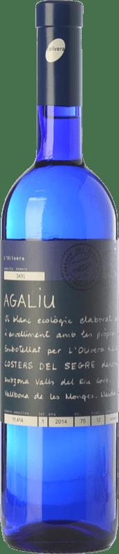 13,95 € | White wine L'Olivera Agaliu Crianza D.O. Costers del Segre Catalonia Spain Macabeo Bottle 75 cl