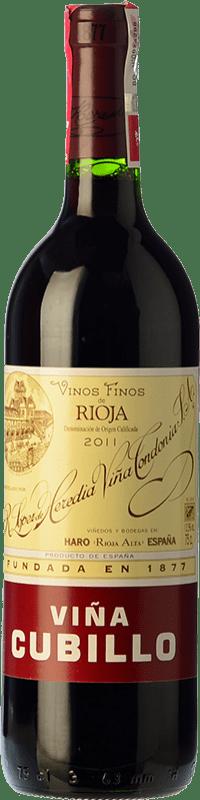 16,95 € 免费送货 | 红酒 López de Heredia Viña Cubillo Crianza D.O.Ca. Rioja 拉里奥哈 西班牙 Tempranillo, Grenache, Graciano, Mazuelo 瓶子 75 cl