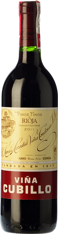 14,95 € | Red wine López de Heredia Viña Cubillo Crianza 2009 D.O.Ca. Rioja The Rioja Spain Tempranillo, Grenache, Graciano, Mazuelo Bottle 75 cl
