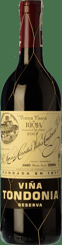 27,95 € | Red wine López de Heredia Viña Tondonia Reserva 2005 D.O.Ca. Rioja The Rioja Spain Tempranillo, Grenache, Graciano, Mazuelo Bottle 75 cl