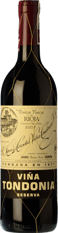 35,95 € Free Shipping | Red wine López de Heredia Viña Tondonia Reserva D.O.Ca. Rioja The Rioja Spain Tempranillo, Grenache, Graciano, Mazuelo Bottle 75 cl