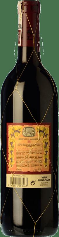 32,95 € Free Shipping   Red wine López de Heredia Viña Tondonia Reserva D.O.Ca. Rioja The Rioja Spain Tempranillo, Grenache, Graciano, Mazuelo Bottle 75 cl