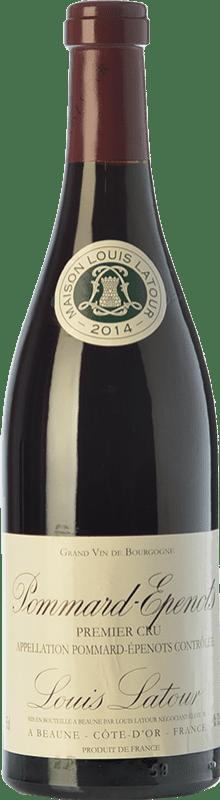 135,95 € 免费送货 | 红酒 Louis Latour Pommard Premier Cru Les Epenots Joven A.O.C. Bourgogne 勃艮第 法国 Pinot Black 瓶子 75 cl