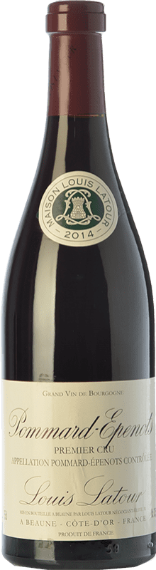 135,95 € Envío gratis | Vino tinto Louis Latour Pommard Premier Cru Les Epenots Joven A.O.C. Bourgogne Borgoña Francia Pinot Negro Botella 75 cl