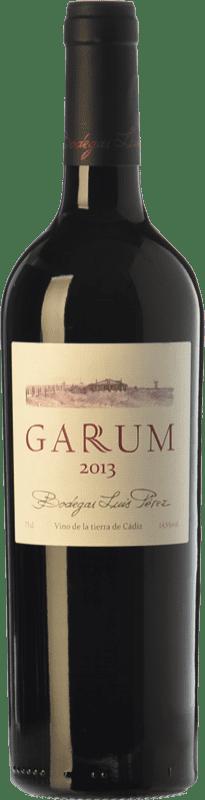 14,95 € Free Shipping | Red wine Luis Pérez Garum Crianza I.G.P. Vino de la Tierra de Cádiz Andalusia Spain Merlot, Syrah, Petit Verdot Bottle 75 cl
