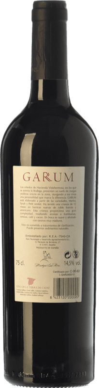 14,95 € Free Shipping   Red wine Luis Pérez Garum Crianza I.G.P. Vino de la Tierra de Cádiz Andalusia Spain Merlot, Syrah, Petit Verdot Bottle 75 cl