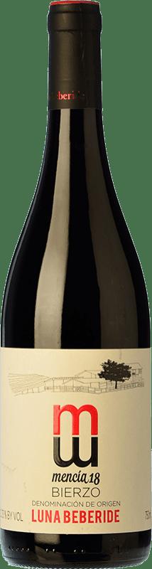 7,95 € 免费送货 | 红酒 Luna Beberide Joven D.O. Bierzo 卡斯蒂利亚莱昂 西班牙 Mencía 瓶子 75 cl