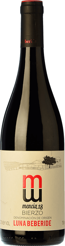7,95 € Envío gratis | Vino tinto Luna Beberide Joven D.O. Bierzo Castilla y León España Mencía Botella 75 cl