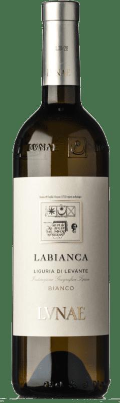 11,95 € Free Shipping | White wine Lunae Leukotea I.G.T. Liguria di Levante Liguria Italy Malvasía, Vermentino, Greco, Albarola Bottle 75 cl