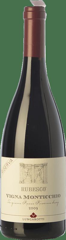 38,95 € | Red wine Lungarotti Rubesco Vigna Monticchio Reserva D.O.C.G. Torgiano Rosso Riserva Umbria Italy Sangiovese, Canaiolo Bottle 75 cl